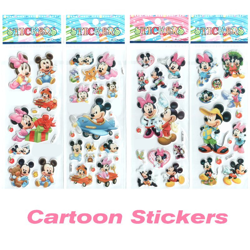 4pcs/lot Cartoon Stickers Cute Mouse Stickers for Children Kids Decorative Foam Stickers Christmas Gift for Baby Boys and Girls.<br><br>Aliexpress