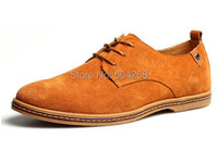 size 38-47 new 2014 Suede genuine leather shoes men's oxfords casual Loafers, sneakers for men flats shoes