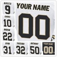 Men's Elite Jersey 100% Stitched #31 Jairus #9 Drew #10 Brandin #22 Mark #32 Kenny #50 Stephone Elite White Black Football J(China (Mainland))