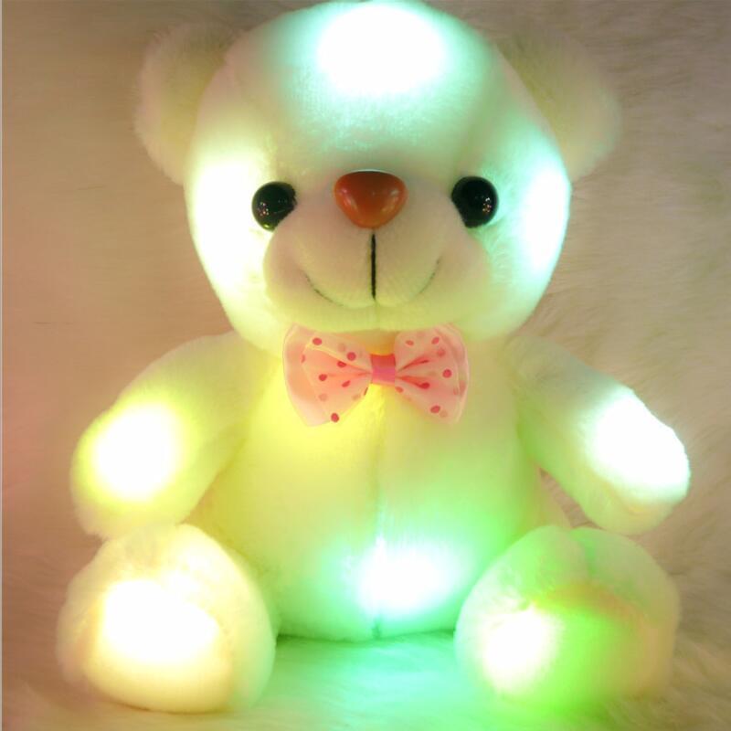 Kids Toys Brinquedo Gift Luminous Pillow Christmas Toys Cushion Led Light Pillow Plush Teddy Colorful Tedy Bear Luminosos(China (Mainland))