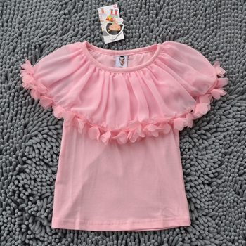 FREE SH IPPING 5pcs/lot high quality New design kids girls shirt top  pettitop crochet tube tutu top