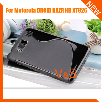 S Line Case for Motorola DROID RAZR HD XT926 , TPU Gel Case for Motorola DROID RAZR HD XT926 free shipping 2pcs/lot