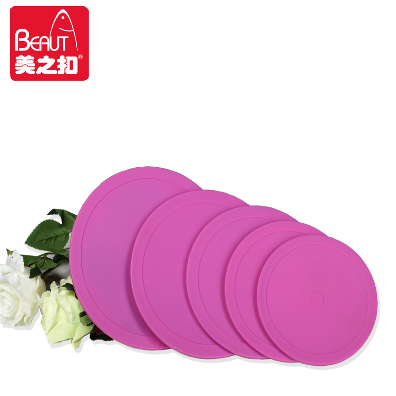 Promotion 5pcs/set food grade silicone lids fresh keep pot lid stretch silicone cover non-toxic magic wraps cover for cookware(China (Mainland))