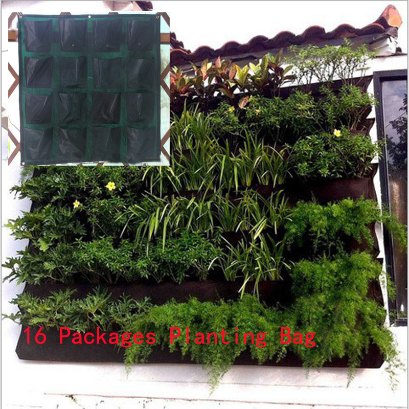 Hanging Wall Pot with 16 Pages Specical Planting Bag plant Pots for Vegetable Balcony vegetables plastic