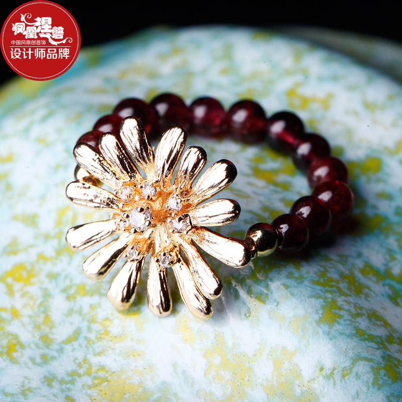 Natural stone ring fashion trend Women national handmade accessories(China (Mainland))