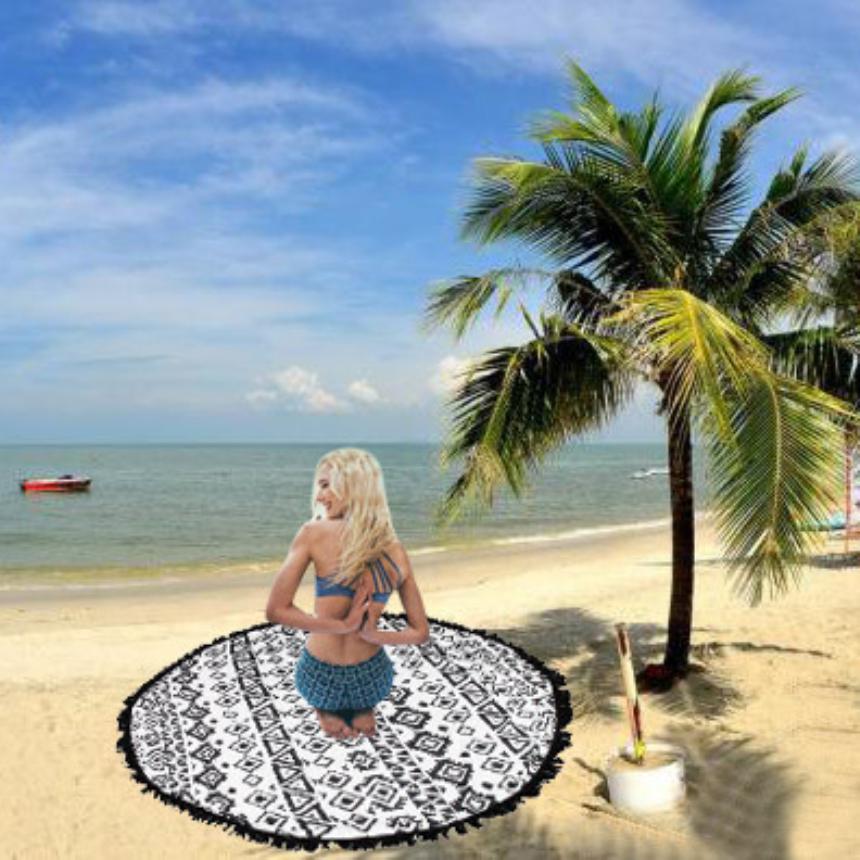 Premium Lace Round 150*150cm Gifts Beach Towel Mat Yoga Blankets Beach Cover Up Bikini Boho Summer Dress Swimwear Bathing Suit(China (Mainland))