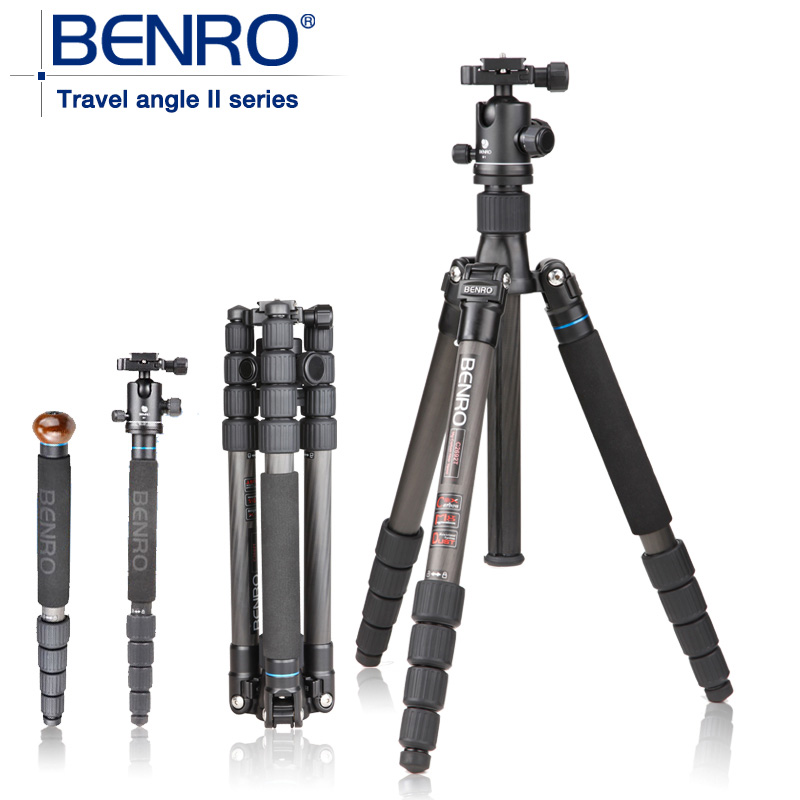 BENRO C2692TB1S carbon fiber tripod monopod trekking poles anti photorefractive+ Carrying Bag Kit, Max loading 12kg<br><br>Aliexpress
