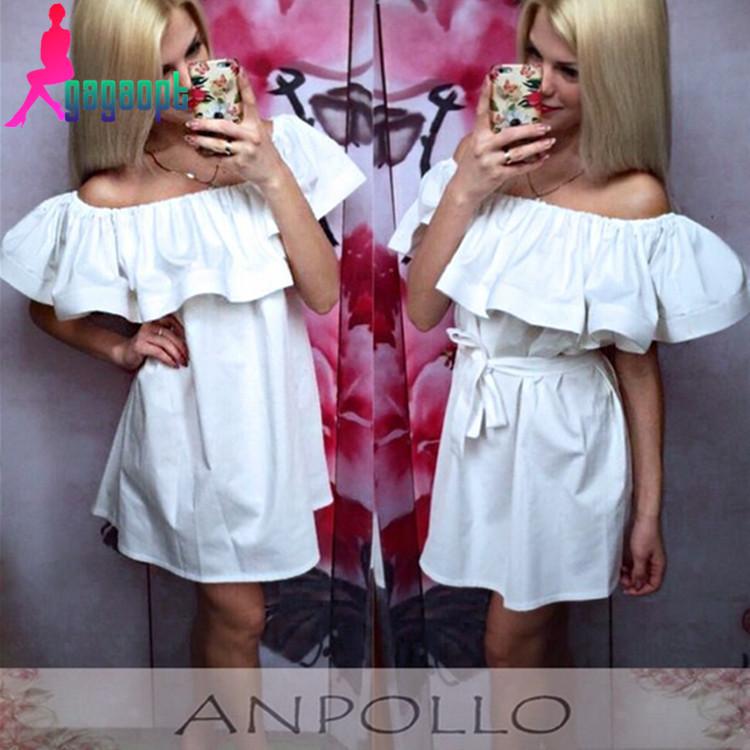 Фото летнее платье с воланом на плечах