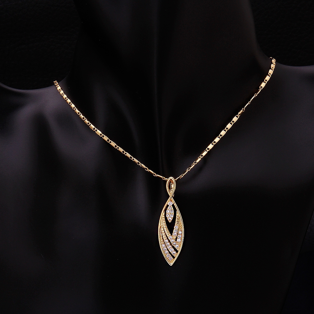 2015 simple yellow gold chain necklace leaf pendant delicat 2015 simple yellow gold chain necklace leaf pendant delicat pendant charm necklace women jewelry dhd aloadofball Image collections
