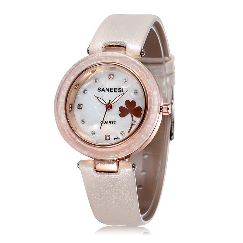 Elegant white watch female fashion leather women rhinestone watches brand name rose gold for Watches brands for girl