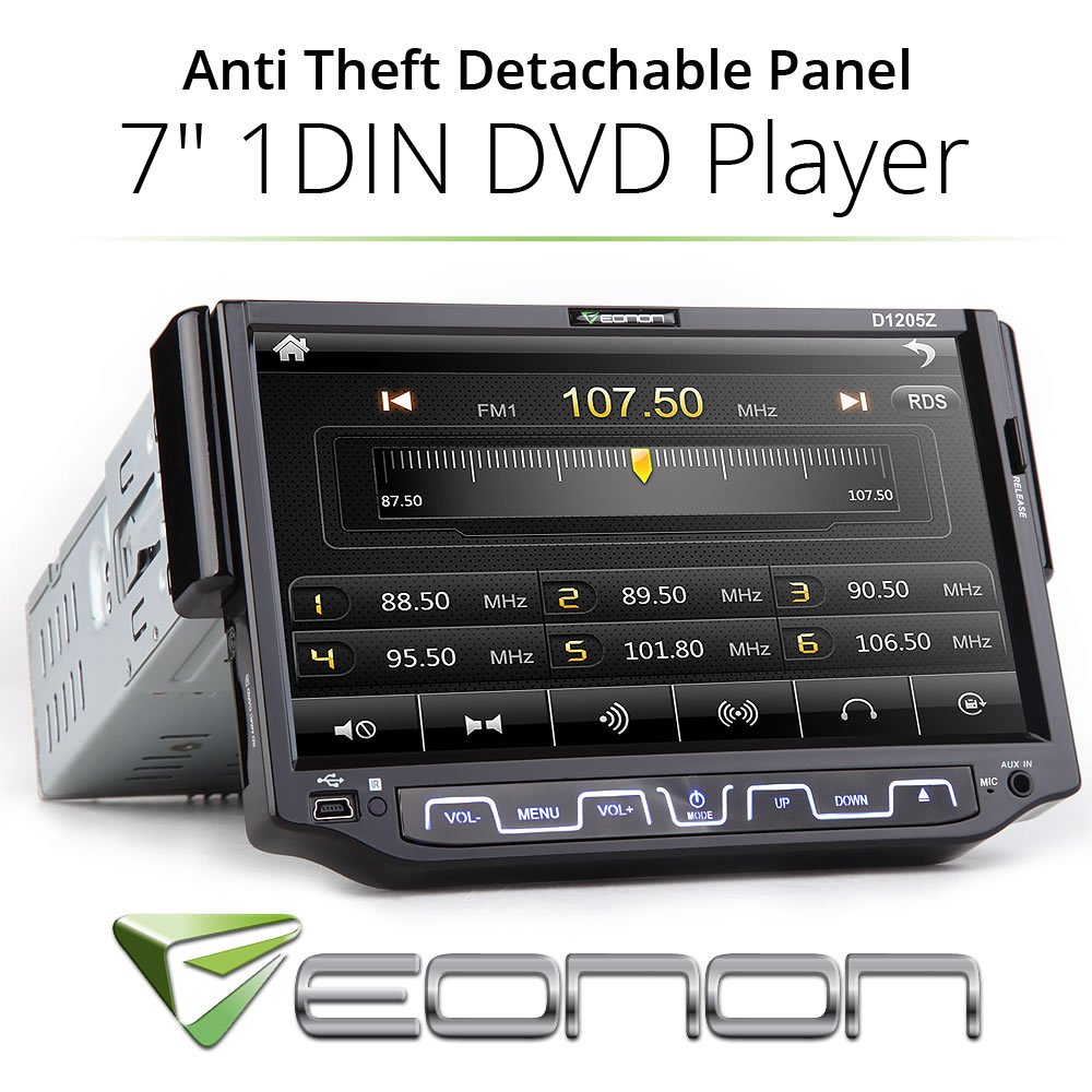 EONON single din flip down hd touch screen car cd dvd player bluetooth fm radio(China (Mainland))