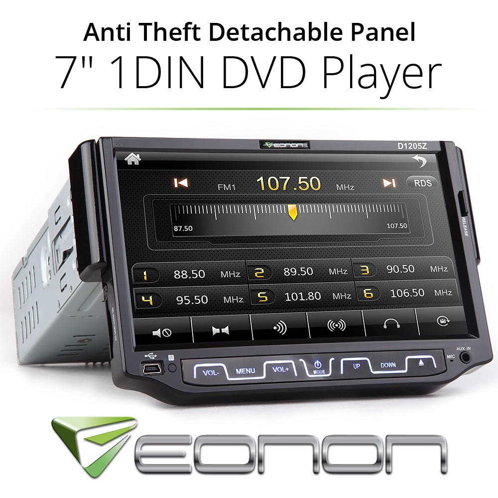 EONON single din flip down hd touch screen car cd dvd player bluetooth fm radio(China (Mainland))