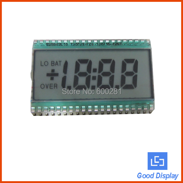 3.5 digits with dots comma,LO BAT,OVER,7 segment tn lcd display 803(China (Mainland))