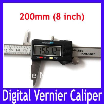 200mm half metal caliper  vernier caliper measurement electronic digital caliper caliper slides measuring tool caliper