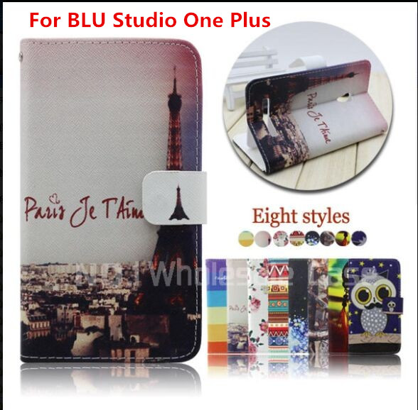 100PCS New Arrival Fashion Vintage Wind England Leather Cell Phone Case Cover For BLU Studio One Plus Flip Card Slots Free DHL(China (Mainland))