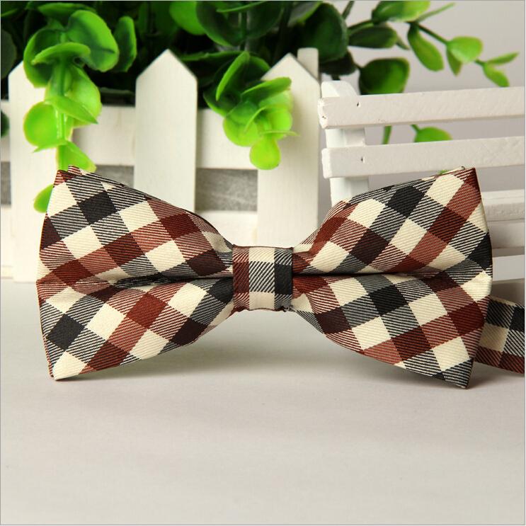 new men ties Korean version of the British grid business casual Married groom groomsman tie Gravata