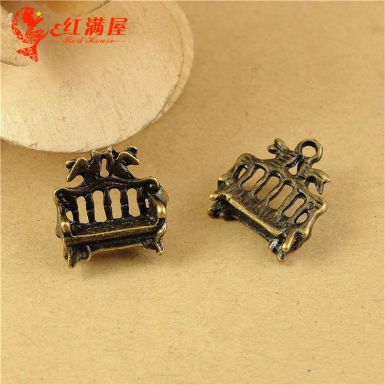 16*14*5MM Antique Bronze Retro Vintage sofa charm pendant beads accessories wholesale, DIY Furniture charm, old Indian charms(China (Mainland))