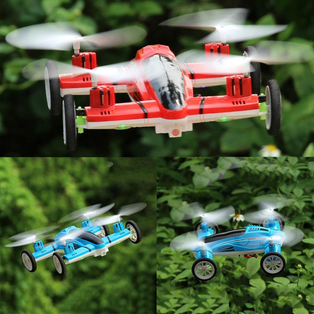 2.4G 6Axis Fly/Drive RC Quadcopter Drone 360 Roll Air/Land Flying Car RTF Toy