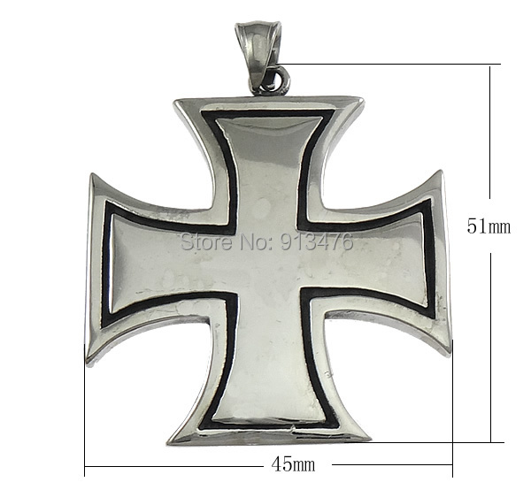 Free shipping!!!Stainless Steel Jewelry Pendants,clearance sale with free shipping, Cross, blacken, 45x51x3mm<br><br>Aliexpress