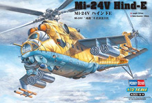 "hobby toy 1/72 scale fighter Mi-24V "" Hind ""E attack aircraft helicopter gunships model kit toys for children"
