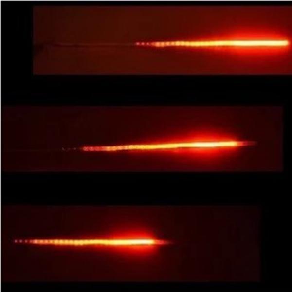 30CM LED Strip Light Flash Strobe Neon Lamp Self-adhesive Back Neon Strip Lights for Car Internal Decoration Red