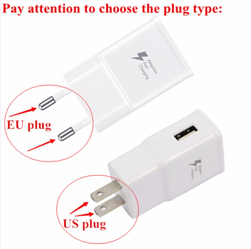 100% Original 5V 2A Adaptive Micro usb cable Fast Charging EU Plug Wall Charger for Samsung Galaxy S7/S7Edge/S6/S6 Edge Note 4 5