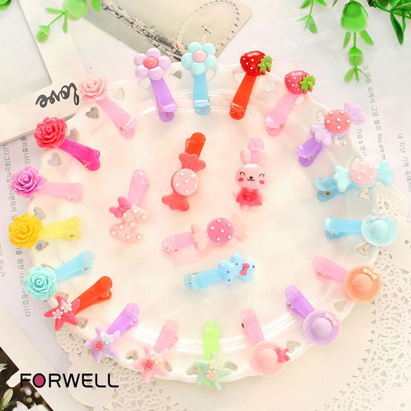 3Pcs/lot Children's hair accessories hairpins little girl headdress flower barrettes baby girls duckbill hair clips(China (Mainland))