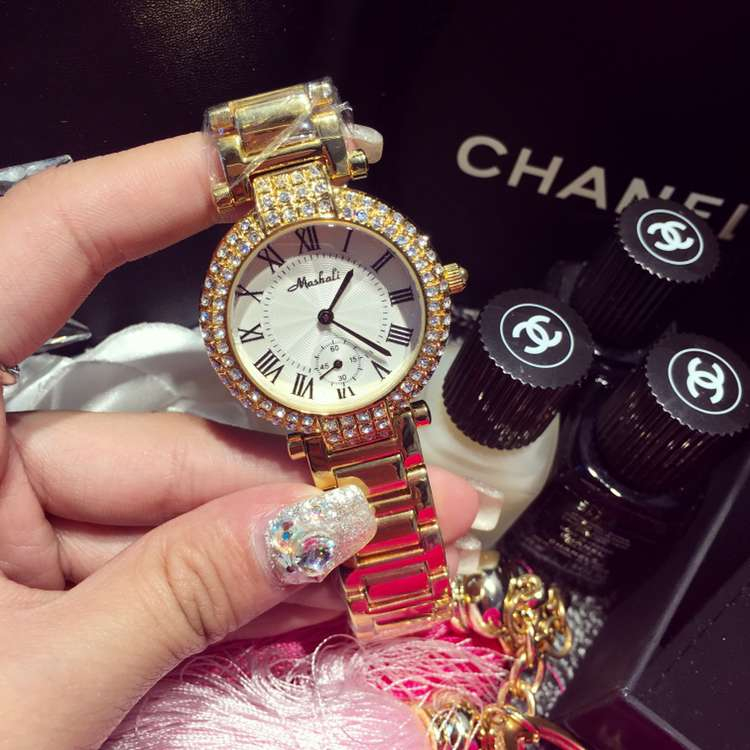 Mashali Wristwatches Quartz-Watches High-Grade Womens Watches Luxury Diamond Roman Numerals Strip<br><br>Aliexpress