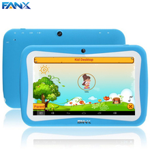Free Shipping 7 inch Quad Core Children Kids Tablet PC 8GB RK3126 Android 5.1 MID Dual Cam & Educational Games App Birthday Gift(Hong Kong)