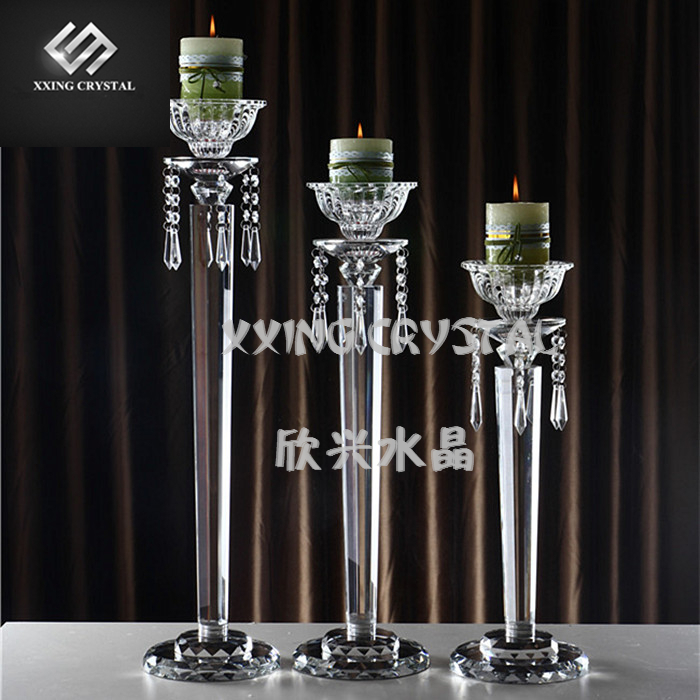 Fashion crystal glass wedding candle stand for centerpiece decoration(China (Mainland))