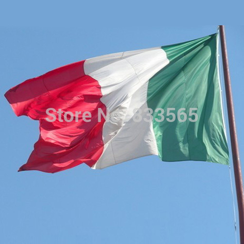 Free shipping 90*150cm Hanging big ITALY Flag for Festival the world cup Home Decoration flag banner support IA768 P(China (Mainland))