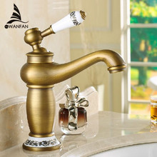Free shipping Contemporary Concise Bathroom Faucet Antique bronze finish Brass Basin Sink Faucet Single Handle water taps M-16F