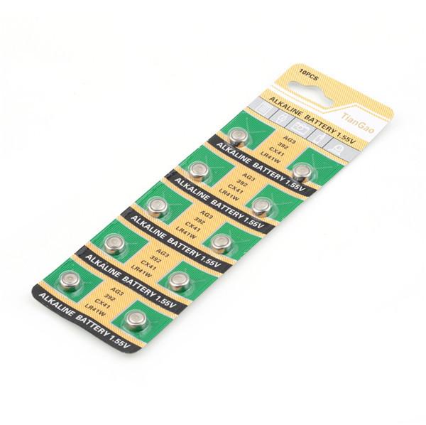 10pcs SR41SW CX41 SR736 SR41 AG3 LR41 LR736 392 392A Cell Button Watch Battery Newest