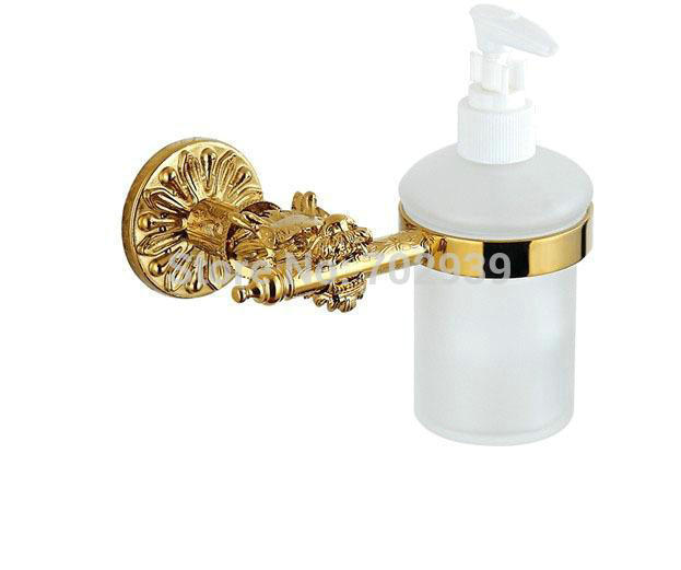 DRAGON new design 24k GOLD PVD CLOUR liquid soap dispenser torneiras cozinha(China (Mainland))