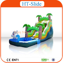 Jungle Theme Inflatable Slide With Pool, Inflatable Slip n Slide For Adult(China (Mainland))