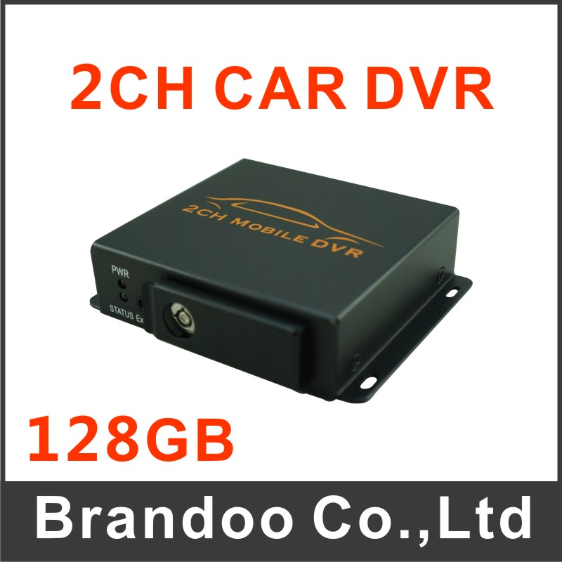 Фотография Free shipping 2 channel mobile DVR, support alarm input, 128GB sd card, auto recording or motion detection, model BD-302B