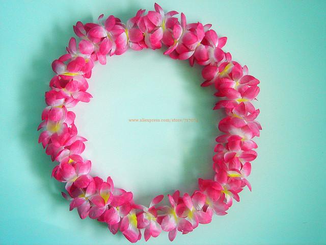 Party/Christmas Supplies Hawaiian Flower Lei Garland/Hawaii Wreath Cheerleading Products  10pcs/lot SJ1307