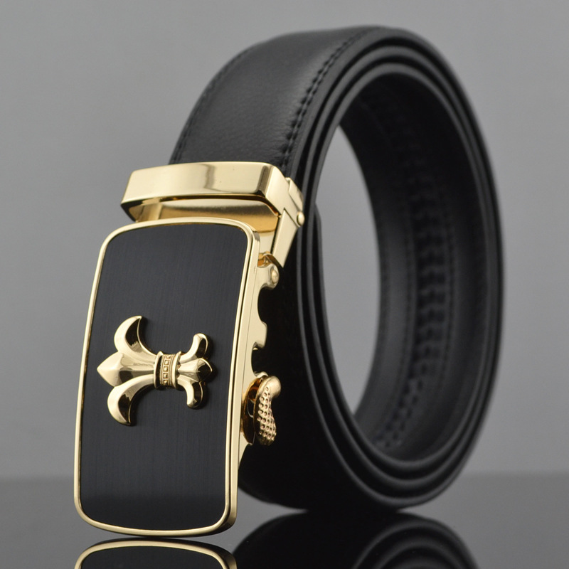 brand Designer Belts Men Fashion Automatic Buckle Men's Leather Belt Cinturones Hombre Waistband - Crystal Top store