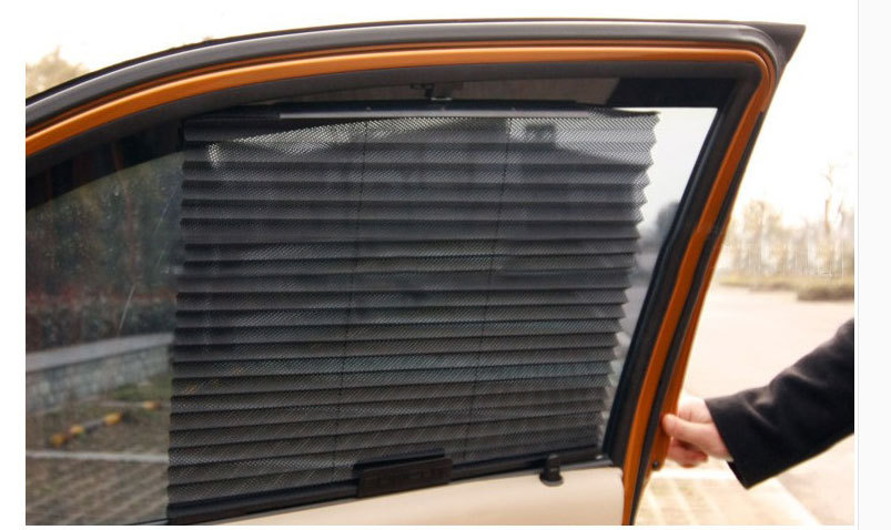 Automatic Retractable Side Window Car Curtain Sun shade Curtain Stoopable Automatic Blinds(China (Mainland))