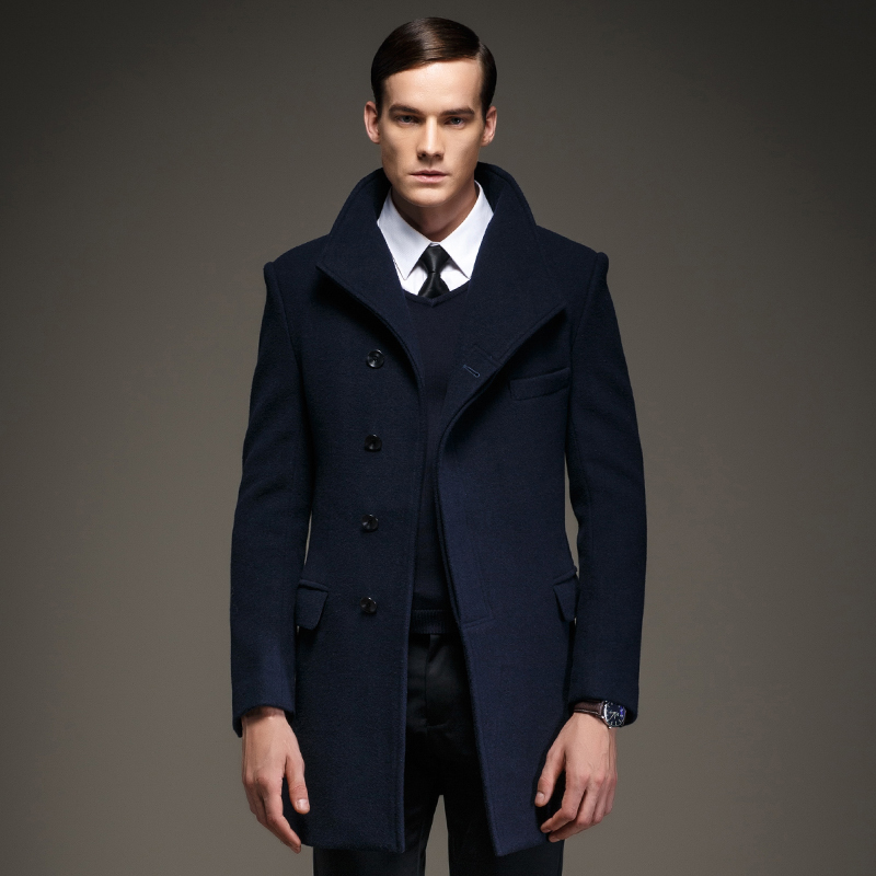 Collection Navy Wool Coat Pictures - Reikian