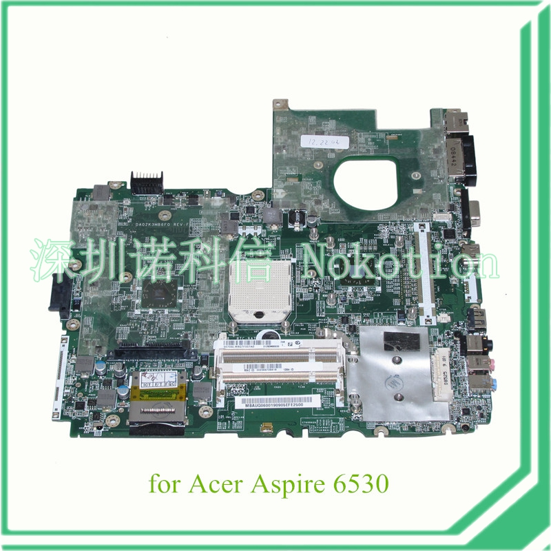 MBAUQ06001 MB.AUQ06.001 DA0ZK3MB6F0 laptop motherboard for acer aspire 6530 mainboard AMD DDR2 Without graphics slot 100% tested(China (Mainland))