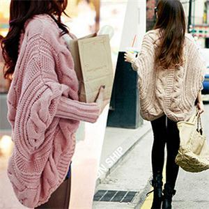 Spring Autumn 6Colors Coarse Wool Cardigans Women Brand Fashion Full Batwing Sleeve Sweaters Casual Women Clothing(China (Mainland))