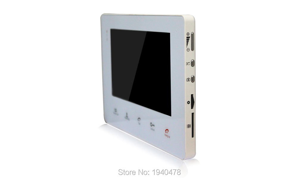 Homefong Home 7 Inch TFT Monitor Video Door Phone Intercom System Night Vision Doorphone Intercom Color CMOS Camera 2 to 2