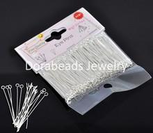(300PCs) Well Sorted SP Eye Pins 4cm (B13048), 8seasons - 8Seasons Jewelry store