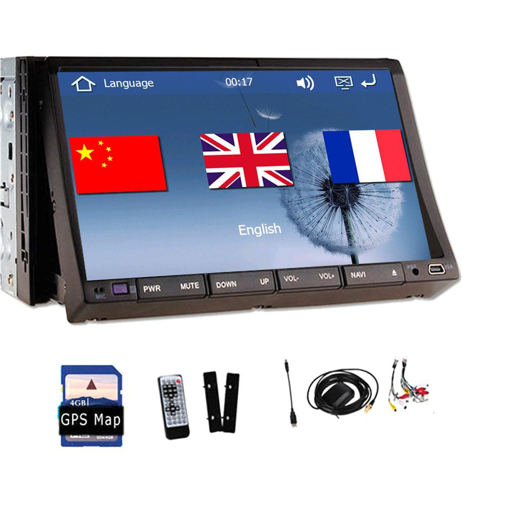 Double 2 Din Car DVD Player PC GPS Navigation Stereo Video Car Multimedia Digital Screen Universal 7 Inch Headunit Double BT(China (Mainland))