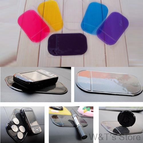 Mobile phone pad car Styling Powerful Silica Gel Magic Sticky Pad Anti Slip Mat for Phone Car Accessories Anti-slip pad(China (Mainland))