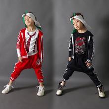 2015 New fashion spring Autumn children's clothing set Costumes sweatshirt Skull Hip Hop harem pants kids sport suits(China (Mainland))