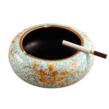 Ceramic Home Decorate Europe Round Retro Ceramic Ashtray Delicate Elegant Tea Table Collection Fashion Gift(China (Mainland))