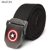 Buy 2017 New Captain America Men Canvas Belt Military Equipment Men's Belts Luxury Men Jeans Fashion Belt Designer Belts for $6.74 in AliExpress store