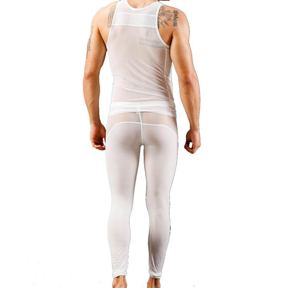 Hot sale Male Mens long johns(tops +pants) sexy men long underwear man tights Long Johns for men undershirts(China (Mainland))